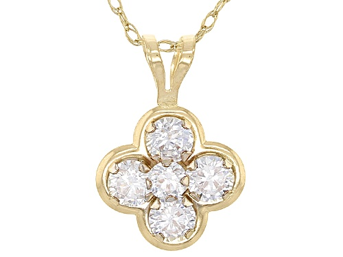 Photo of Bella Luce ® 0.64ctw White Diamond Simulant 10k Yellow Gold Pendant With Chain (0.50ctw Dew)