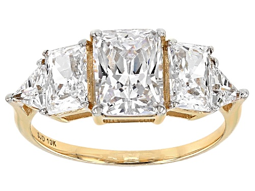 Photo of Bella Luce ® 5.24ctw White Diamond Simulant 10k Yellow Gold Ring (3.52ctw Dew) - Size 11