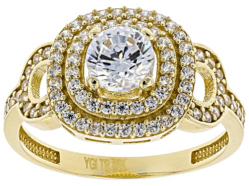 Photo of Bella Luce® 1.50ctw 10K Yellow Gold Ring (0.85ctw DEW) - Size 7