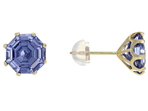Photo of Bella Luce ® 7.00CTW Esotica ™ Tanzanite Diamond Simulant 10K Yellow Gold Earrings