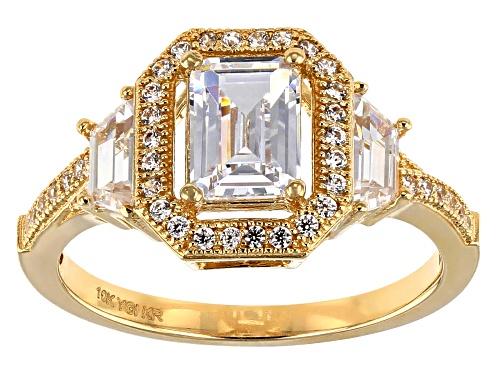 Photo of Bella Luce ® 2.97CTW White Diamond Simulant 10K Yellow Gold Ring ( 1.52CTW DEW) - Size 8