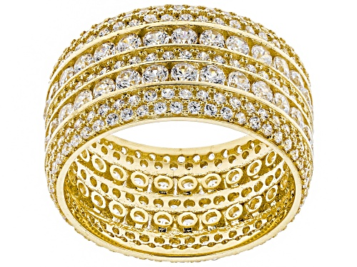 Photo of Bella Luce ® 5.64CTW White Diamond Simulant 10K Yellow Gold Ring (2.94CTW DEW) - Size 7
