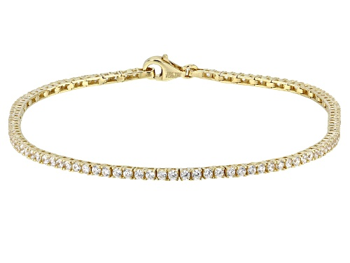 Photo of Bella Luce ® 3.18CTW White Diamond Simulant 10K Yellow Gold Bracelet (0.53CTW DEW) - Size 7.5