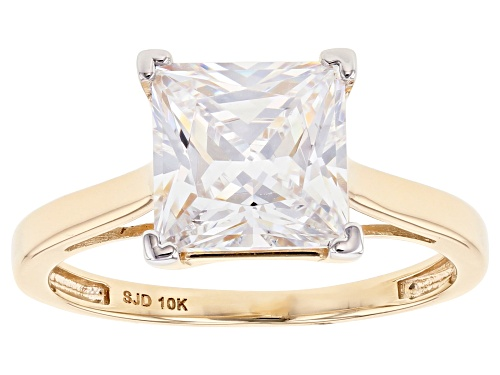 Photo of Bella Luce ® 4.05ctw White Diamond Simulant 10k Yellow Gold Ring (3.01ctw DEW) - Size 12