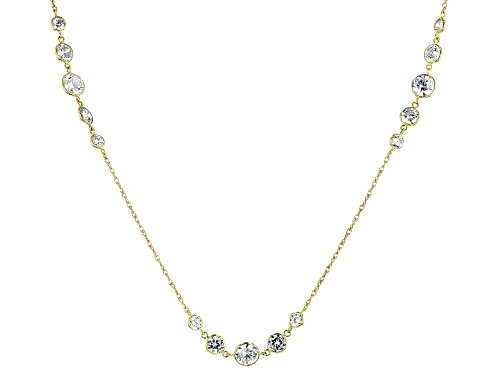 Photo of Bella Luce ® 5.73ctw White Diamond Simulant 10K Yellow Gold Station Necklace (3.54ctw DEW) - Size 18