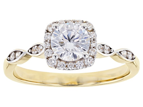 Photo of Bella Luce ® 1.67ctw White Diamond Simulant 10K Yellow Gold Ring (0.92ctw DEW) - Size 8
