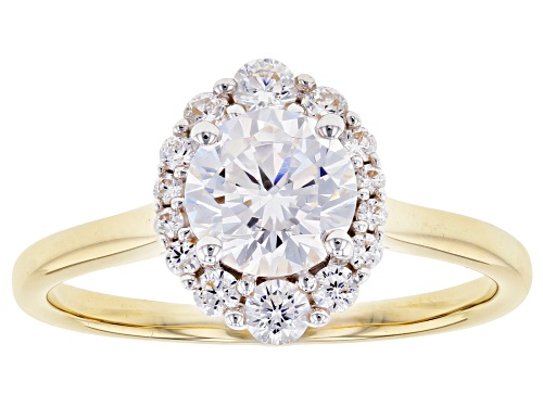 Photo of Bella Luce ® 2.48ctw White Diamond Simulant 10K Yellow Gold Ring (1.31ctw DEW) - Size 8