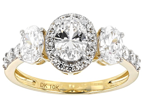 Photo of Bella Luce ® 3.86ctw 10k Yellow Gold Ring (2.08ctw DEW) - Size 8