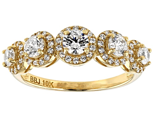 Photo of Bella Luce(R) White Diamond Simulant 10K Yellow Gold Ring - Size 7