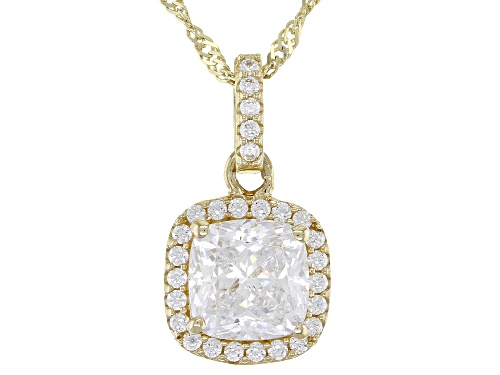 Photo of Bella Luce ® 2.22ctw White Diamond Simulant 10k Yellow Gold Pendant With Chain (0.97ctw DEW)