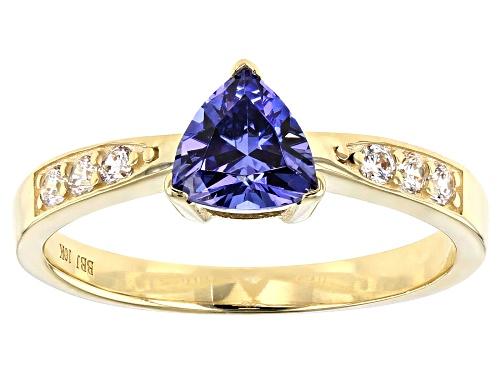 Photo of Bella Luce ® 1.44ctw Blue Tanzanite and White Diamond Simulants 10k Yellow Gold Ring - Size 7