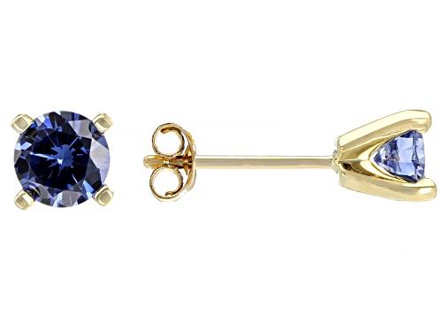Photo of Bella Luce ® 1.63ctw Blue Tanzanite Simulant 10k Yellow Gold Stud Earrings