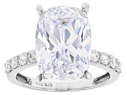 Photo of Bella Luce ® 12.31ctw 10k White Gold Ring (8.51ctw DEW) - Size 12