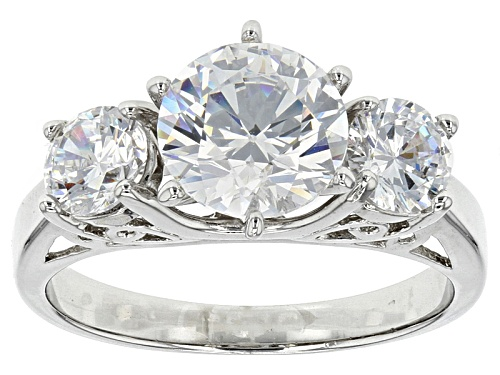 Photo of Bella Luce ® 4.53ctw Rhodium Over Sterling Silver 3-Stone Ring - Size 10