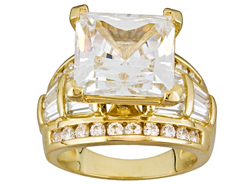 Photo of Bella Luce® White Dia Simulant 15.18ctw 18k Yellow Gold Over Sterling Silver Ring - Size 5