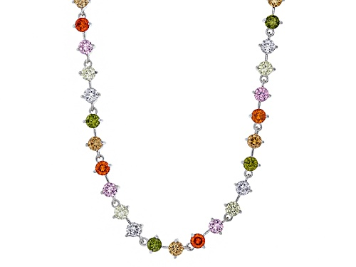 Photo of Bella Luce ® 28.63ctw Multicolor Gemstone Simulants Rhodium Over Sterling Silver Necklace - Size 18