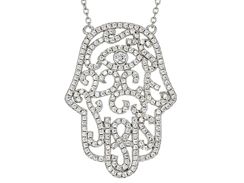 Photo of Bella Luce ® 2.19ctw Rhodium Over Sterling Silver Necklace (1.22ctw Dew) - Size 18