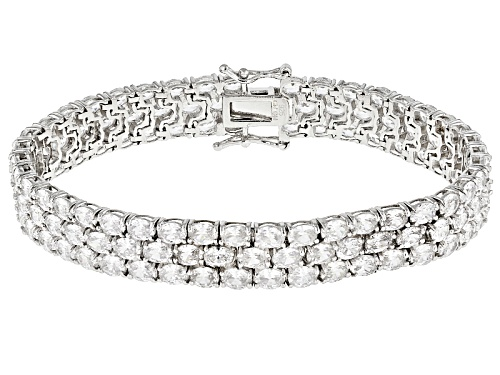 Photo of Bella Luce ® 32.00ctw Rhodium Over Sterling Silver Bracelet (26.25ctw Dew) - Size 7.25