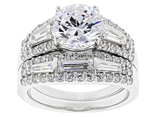 Photo of Bella Luce ® 7.10ctw Rhodium Over Sterling Silver Ring With Band (4.65ctw Dew) - Size 10