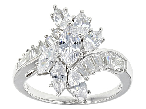 Photo of Bella Luce ® 4.25ctw Rhodium Over Sterling Silver Ring (2.97ctw Dew) - Size 10