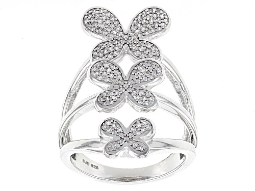 Photo of Bella Luce ® .70ctw White Diamond Simulant Rhodium Over Sterling Silver Butterfly Ring(.37ctw Dew) - Size 5