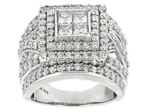 Photo of Bella Luce ® 4.05ctw White  Diamond Simulant Rhodium Over Sterling Silver Ring (2.40ctw Dew) - Size 12