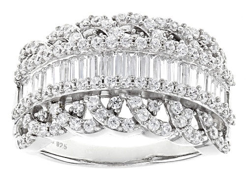 Photo of Bella Luce ® 3.02ctw White Diamond Simulant Rhodium Over Sterling Silver Ring (1.71ctw Dew) - Size 11