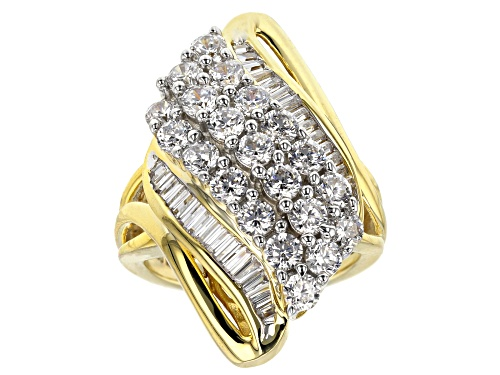 Photo of Bella Luce ® 5.31ctw White Diamond Simulant Eterno ™ Yellow Ring (3.46ctw Dew) - Size 5