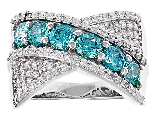 Photo of Bella Luce ® 4.43ctw Rhodium Over Sterling Silver Ring With Mint Swarovski ® Zirconia - Size 7
