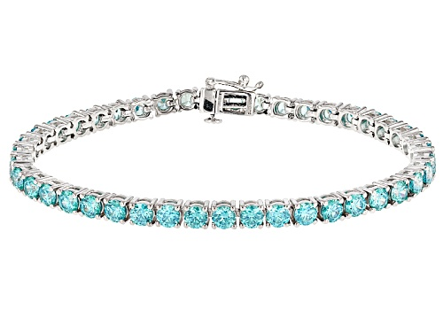Photo of Bella Luce Luxe™ 19.80ctw Featuring Mint Zirconia From Swarovski ® Rhodium Over Silver Bracelet - Size 8