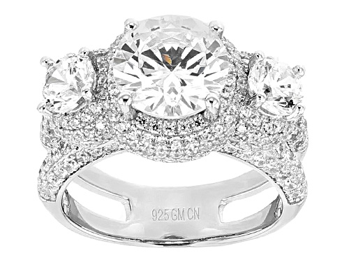 Photo of Bella Luce ® 9.08ctw Rhodium Over Sterling Silver Ring (5.27ctw Dew) - Size 12