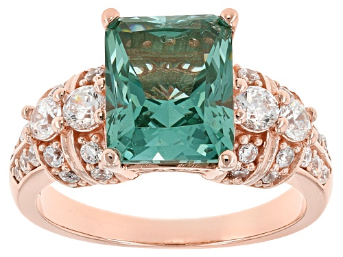Photo of Bella Luce®5.12ctw Caribbean Green™ Lab Created Spinel And White Diamond Simulant Eterno ™ Rose Ring - Size 12