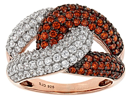 Photo of Bella Luce ® 4.70ctw Red & White Diamond Simulants Eterno ™ Rose Ring (2.43ctw Dew) - Size 7