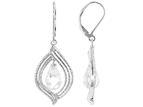Photo of Bella Luce ® 11.60ctw Rhodium Over Sterling Silver Earrings (3.60ctw DEW)