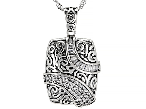 Photo of Bella Luce  White Diamond Simulant Rhodium Over Sterling Silver Pendant With Chain