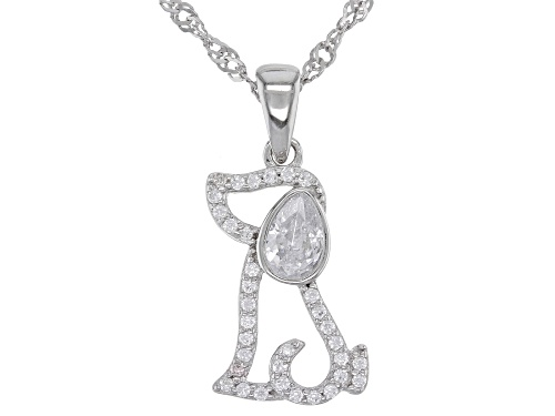 Photo of Bella Luce ® 0.89ctw Rhodium Over Sterling Silver Dog Pendant With Chain (0.56ctw DEW)