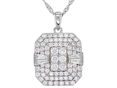 Photo of Bella Luce ® 3.41ctw Rhodium Over Sterling Silver Pendant With Chain (1.66ctw DEW)