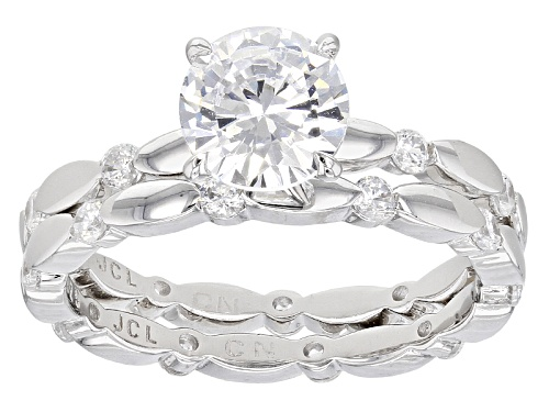 Photo of Bella Luce ® 3.49ctw Rhodium Over Sterling Silver Ring With Band (1.94ctw Dew) - Size 10