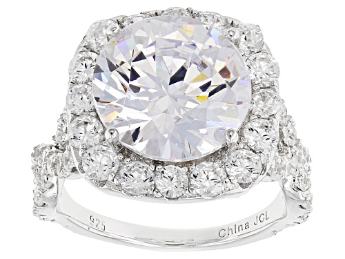 Photo of Bella Luce ® 15.70ctw Rhodium Over Sterling Silver Ring (8.88ctw Dew) - Size 10
