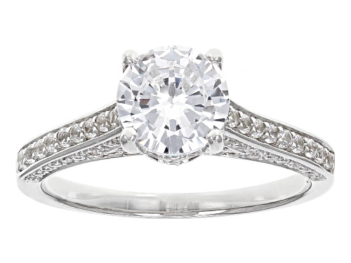 Photo of Bella Luce ® 3.31ctw Rhodium Over Sterling Silver Ring (1.91ctw Dew) - Size 8