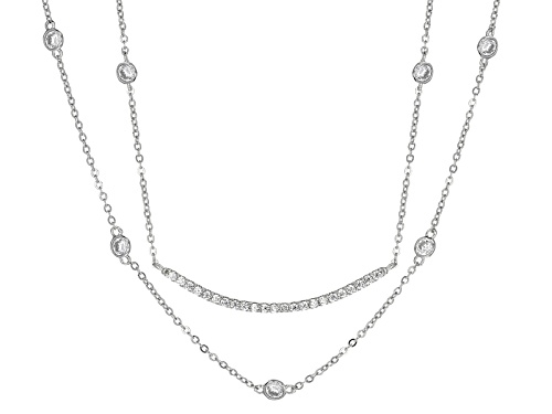 Photo of Bella Luce ® 2.28ctw Rhodium Over Sterling Silver Necklace (1.55ctw Dew) - Size 16