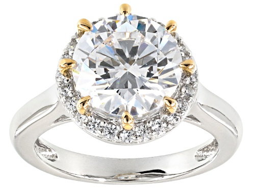 Photo of Bella Luce ® 6.89ctw White Diamond Simulant Rhodium & 18k Yellow Gold Over Sterling Silver Ring - Size 10