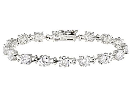 Photo of Bella Luce ® 24.31ctw White Diamond Simulant Rhodium Over Sterling Silver Bracelet (14.28ctw Dew) - Size 7.25