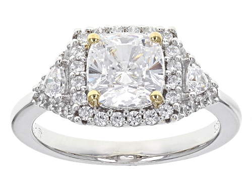 Photo of Bella Luce ® 3.43ctw White Diamond Simulant Rhodium & 18k Yellow Gold Over Sterling Silver Ring - Size 10