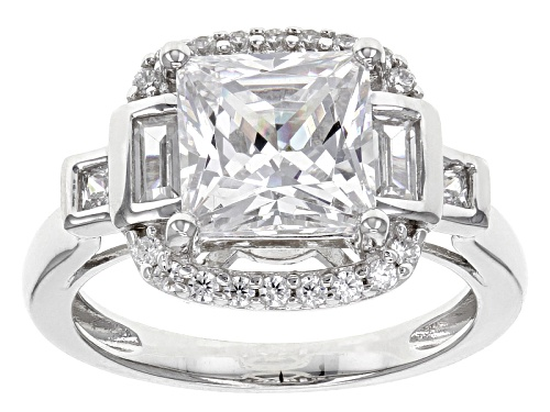 Photo of Bella Luce ® 5.84ctw White Diamond Simulant Rhodium Over Sterling Silver Ring (3.51ctw Dew) - Size 10
