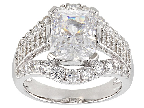 Photo of Bella Luce ® 8.60ctw White Diamond Simulant Rhodium Over Sterling Silver Ring (4.97ctw Dew) - Size 7