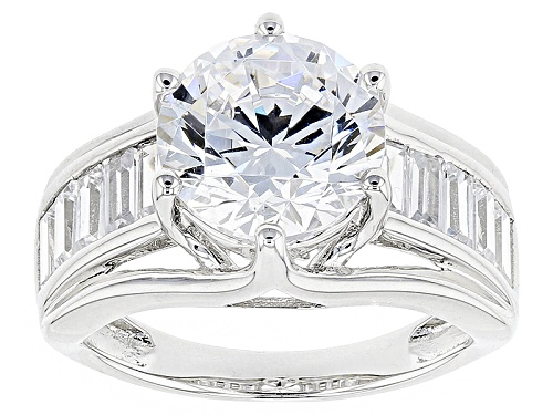 Photo of Bella Luce ® 8.18ctw White Diamond Simulant Rhodium Over Sterling Silver Ring (4.97ctw Dew) - Size 7