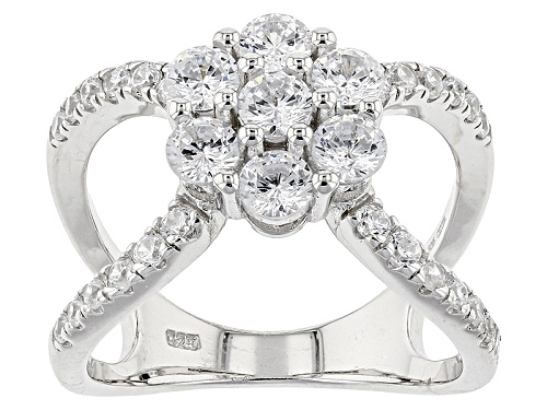 Photo of Bella Luce ® 2.75ctw Rhodium Over Sterling Silver Ring (1.61ctw Dew) - Size 7