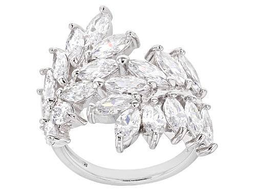 Photo of Bella Luce ® 7.80ctw Rhodium Over Sterling Silver Ring (5.00ctw Dew) - Size 7