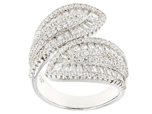 Bella Luce ® 4.35ctw Rhodium Over Sterling Silver Ring (2.49ctw Dew) - Size 7